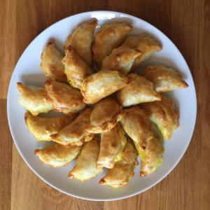 Curry Puffs with Sweet Potatoes