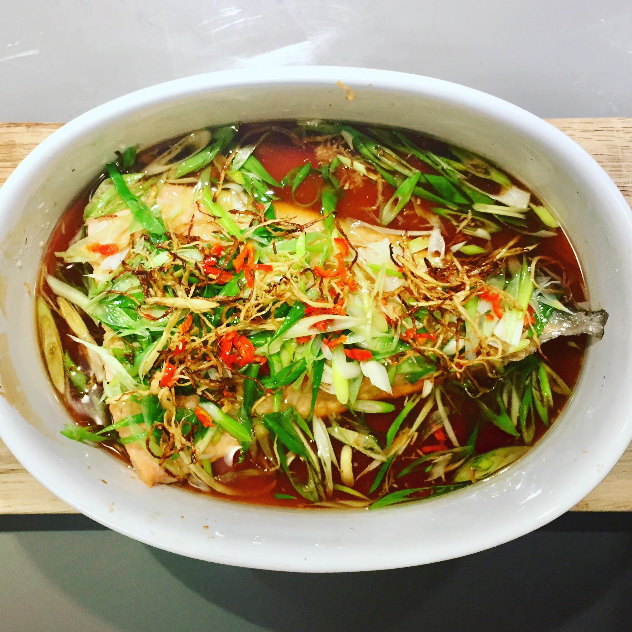 Secret Chilli Club Cooking and Tasting Class - Baked Salmon with Ginger & Spring Onion